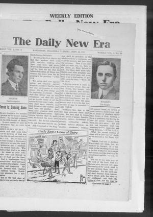 Primary view of object titled 'The Daily New Era (Davenport, Okla.), Vol. 1, No. 9, Ed. 1 Tuesday, September 11, 1917'.