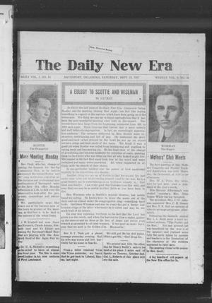 Primary view of object titled 'The Daily New Era (Davenport, Okla.), Vol. 1, No. 13, Ed. 1 Saturday, September 15, 1917'.