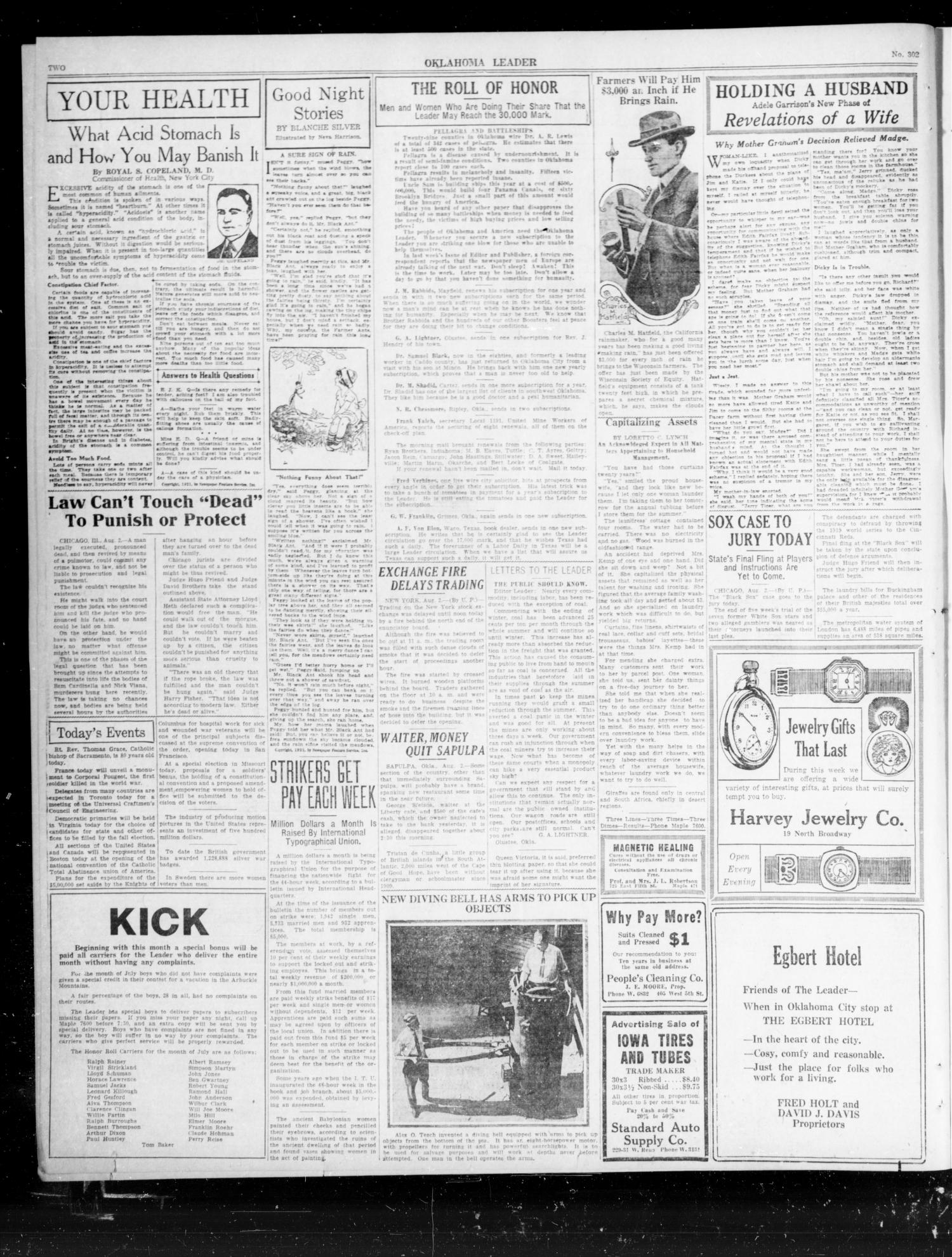 Oklahoma Leader (Oklahoma City, Okla.), Vol. 1, No. 302, Ed. 1 Tuesday, August 2, 1921                                                                                                      [Sequence #]: 2 of 8