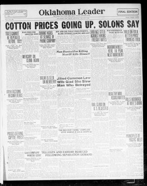 Primary view of object titled 'Oklahoma Leader (Oklahoma City, Okla.), Vol. 1, No. 306, Ed. 1 Saturday, August 6, 1921'.