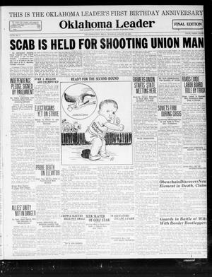 Oklahoma Leader (Oklahoma City, Okla.), Vol. 2, No. 1, Ed. 1 Tuesday, August 16, 1921