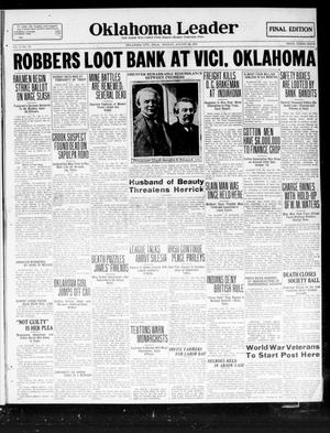 Primary view of object titled 'Oklahoma Leader (Oklahoma City, Okla.), Vol. 2, No. 12, Ed. 1 Monday, August 29, 1921'.