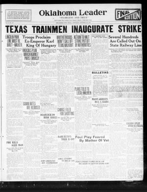Oklahoma Leader (Oklahoma City, Okla.), Vol. 2, No. 59, Ed. 1 Saturday, October 22, 1921