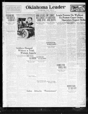Primary view of object titled 'Oklahoma Leader (Oklahoma City, Okla.), Vol. 2, No. 67, Ed. 1 Tuesday, November 1, 1921'.