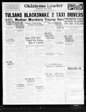 Oklahoma Leader (Oklahoma City, Okla.), Vol. 2, No. 93, Ed. 1 Thursday, December 1, 1921