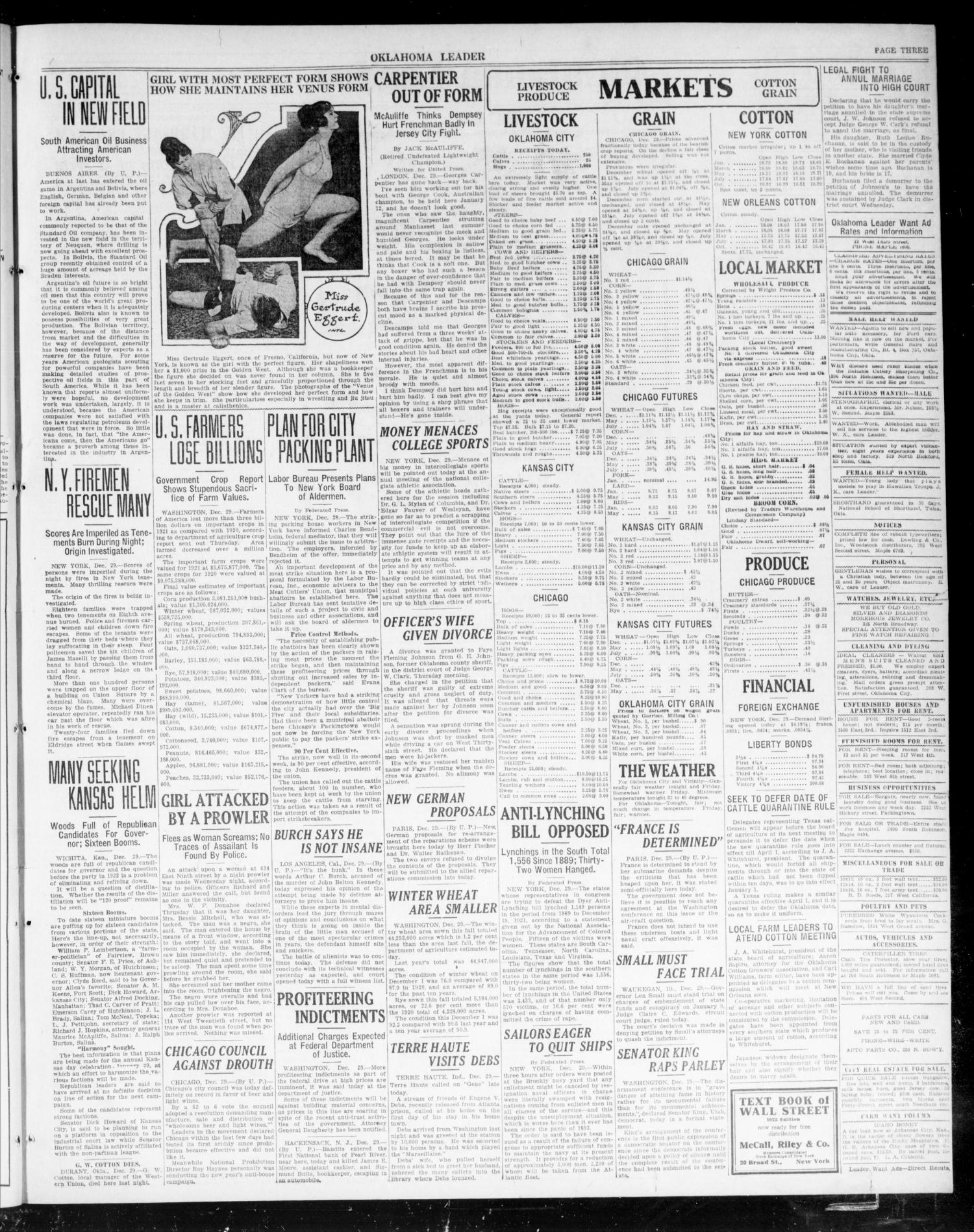 Oklahoma Leader (Oklahoma City, Okla.), Vol. 2, No. 117, Ed. 1 Thursday, December 29, 1921                                                                                                      [Sequence #]: 3 of 6
