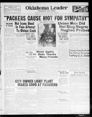 Oklahoma Leader (Oklahoma City, Okla.), Vol. 2, No. 121, Ed. 1 Tuesday, January 3, 1922