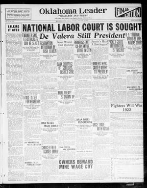Oklahoma Leader (Oklahoma City, Okla.), Vol. 2, No. 124, Ed. 1 Friday, January 6, 1922