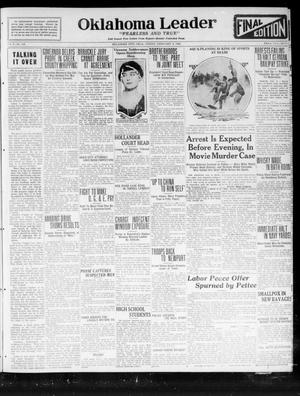 Oklahoma Leader (Oklahoma City, Okla.), Vol. 2, No. 148, Ed. 1 Friday, February 3, 1922