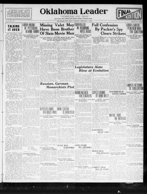 Oklahoma Leader (Oklahoma City, Okla.), Vol. 2, No. 151, Ed. 1 Tuesday, February 7, 1922