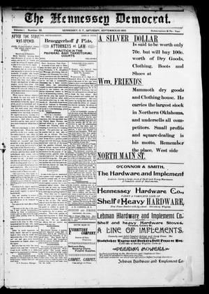 The Hennessey Democrat. (Hennessey, Okla. Terr.), Vol. 1, No. 52, Ed. 1 Saturday, September 23, 1893