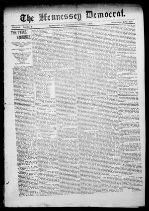 Primary view of object titled 'The Hennessey Democrat. (Hennessey, Okla. Terr.), Vol. 2, No. 2, Ed. 1 Saturday, October 7, 1893'.