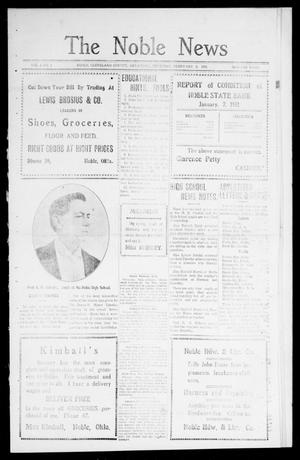 Primary view of object titled 'The Noble News (Noble, Okla.), Vol. 1, No. 4, Ed. 1 Thursday, February 2, 1911'.