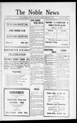 The Noble News (Noble, Okla.), Vol. 1, No. 6, Ed. 1 Thursday, February 16, 1911