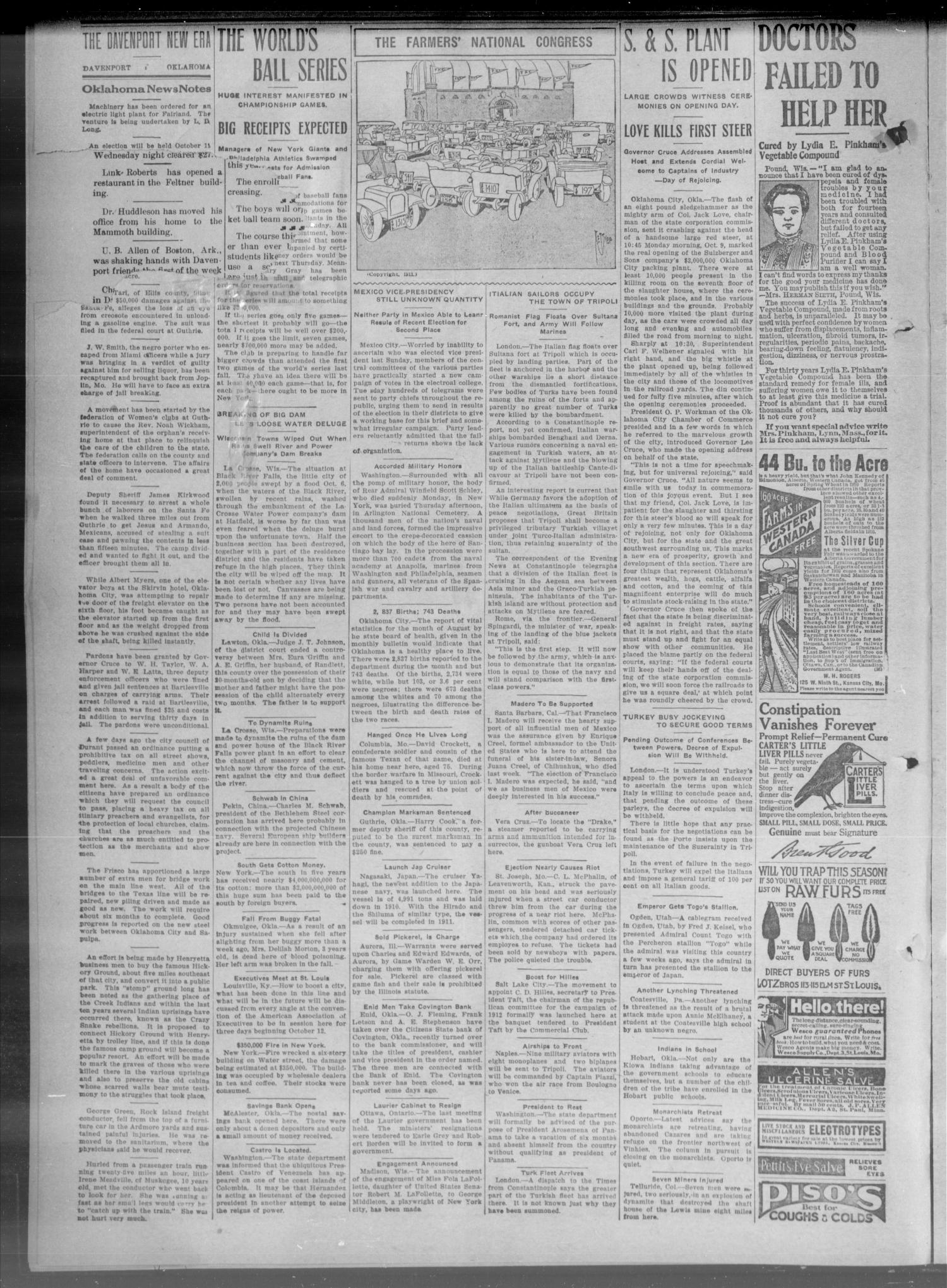 The New Era. (Davenport, Okla.), Vol. 3, No. 43, Ed. 1 Thursday, October 12, 1911                                                                                                      [Sequence #]: 2 of 8