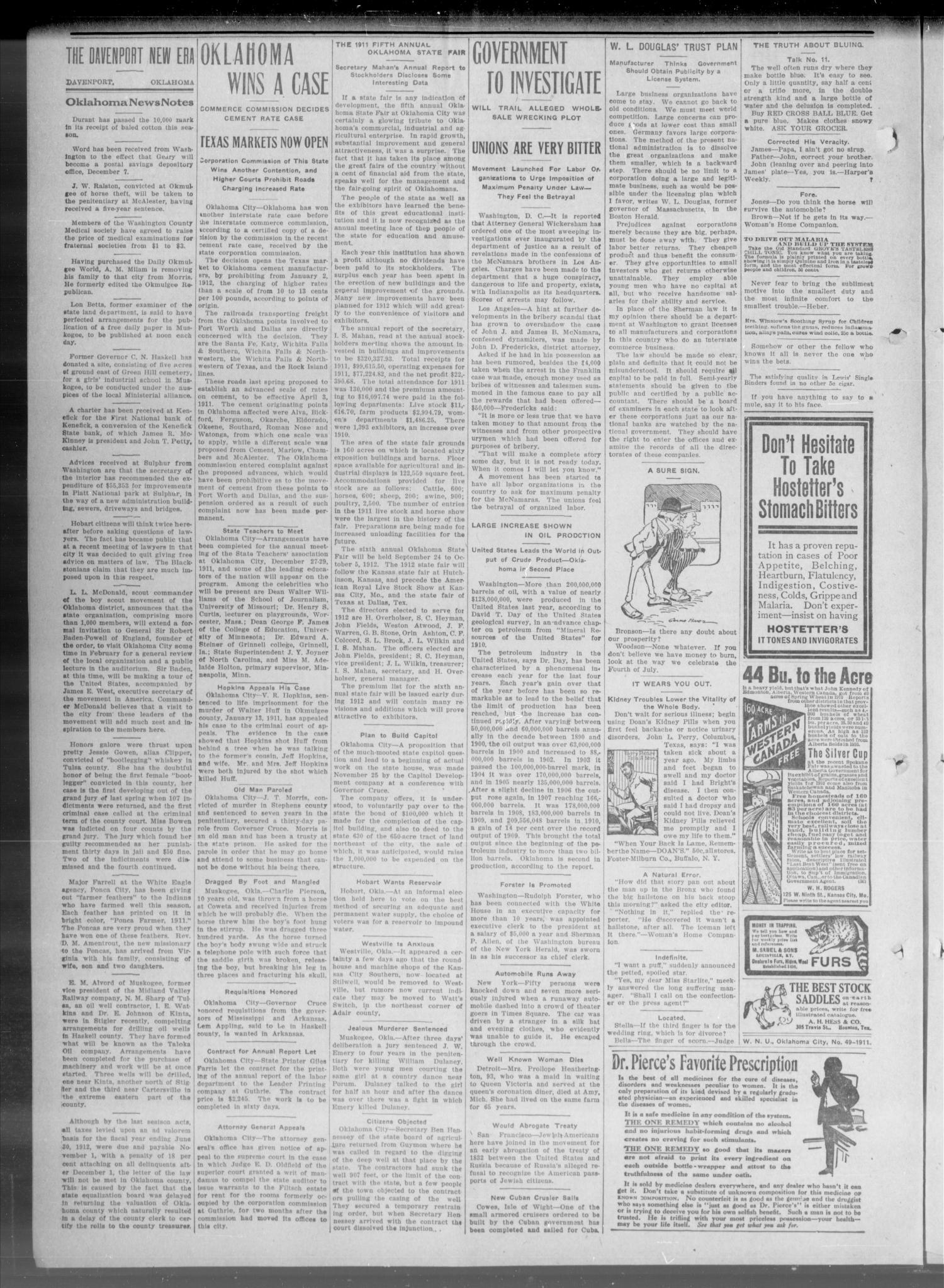 The New Era. (Davenport, Okla.), Vol. 3, No. 50, Ed. 1 Thursday, December 7, 1911                                                                                                      [Sequence #]: 6 of 8