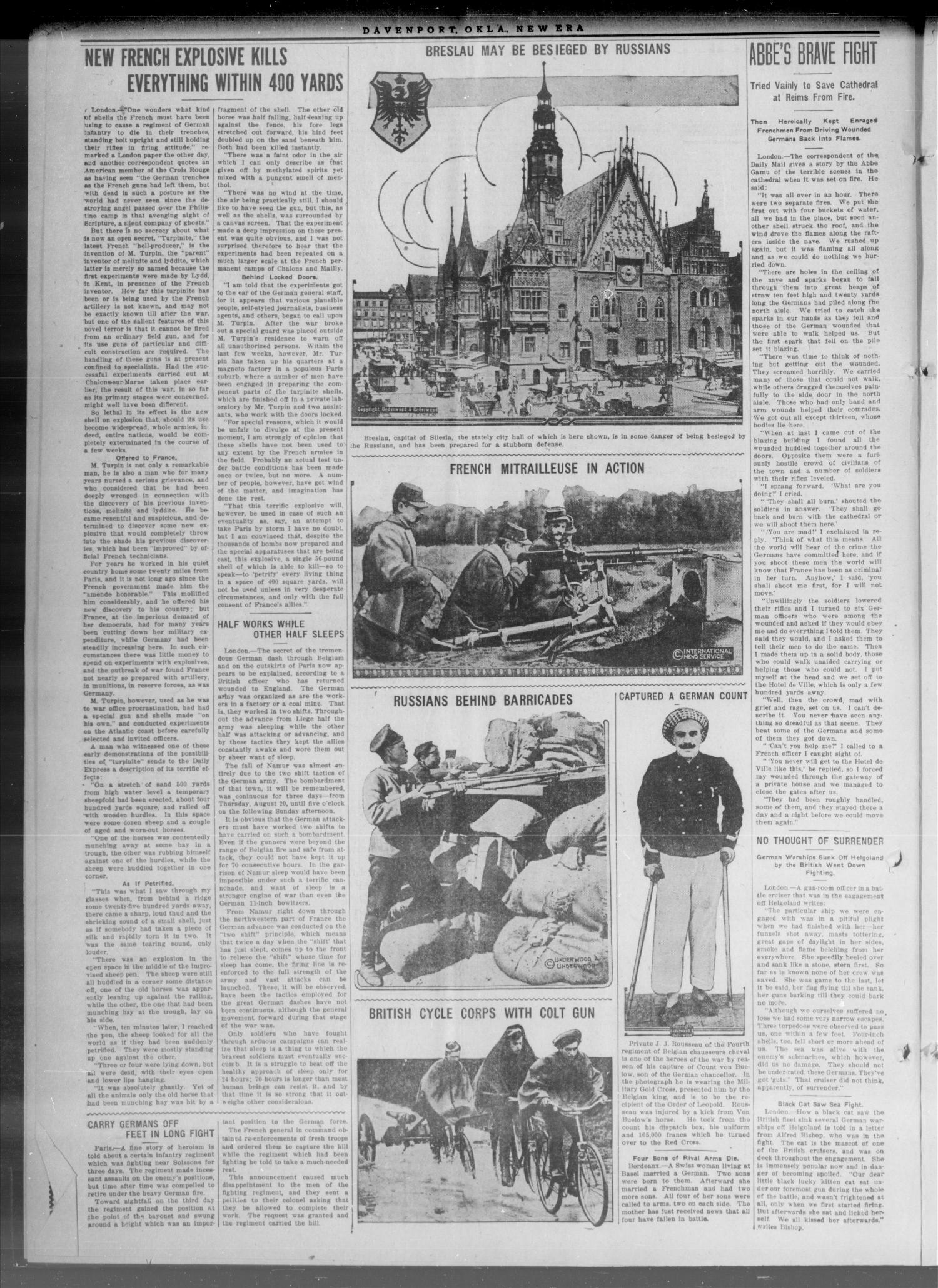 The New Era. (Davenport, Okla.), Vol. 6, No. 35, Ed. 1 Thursday, October 8, 1914                                                                                                      [Sequence #]: 2 of 8