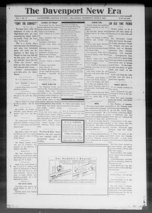 Primary view of object titled 'The Davenport New Era (Davenport, Okla.), Vol. 7, No. 17, Ed. 1 Thursday, June 3, 1915'.