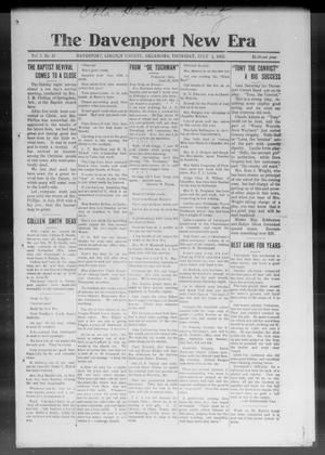 The Davenport New Era (Davenport, Okla.), Vol. 7, No. 21, Ed. 1 Thursday, July 1, 1915
