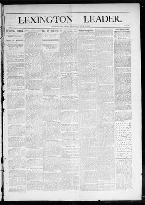 Lexington Leader. (Lexington, Okla. Terr.), Vol. 2, No. 3, Ed. 1 Saturday, April 16, 1892