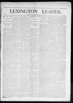 Primary view of object titled 'Lexington Leader. (Lexington, Okla. Terr.), Vol. 2, No. 5, Ed. 1 Saturday, May 7, 1892'.