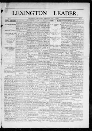 Primary view of object titled 'Lexington Leader. (Lexington, Okla. Terr.), Vol. 2, No. 14, Ed. 1 Saturday, July 9, 1892'.