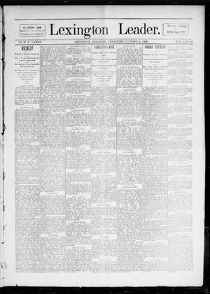 Primary view of Lexington Leader. (Lexington, Okla. Terr.), Vol. 2, No. 28, Ed. 1 Saturday, October 8, 1892