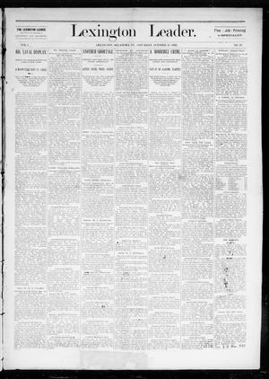 Primary view of object titled 'Lexington Leader. (Lexington, Okla. Terr.), Vol. 2, No. 29, Ed. 1 Saturday, October 15, 1892'.