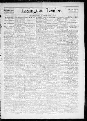 Primary view of object titled 'Lexington Leader. (Lexington, Okla. Terr.), Vol. 2, No. 30, Ed. 1 Saturday, October 22, 1892'.