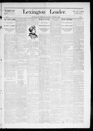 Lexington Leader. (Lexington, Okla. Terr.), Vol. 2, No. 31, Ed. 1 Saturday, October 29, 1892