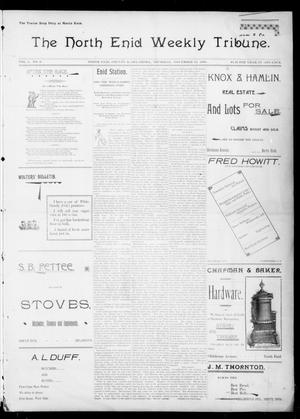 Primary view of object titled 'The North Enid Weekly Tribune. (North Enid, Okla.), Vol. 1, No. 6, Ed. 1 Thursday, November 23, 1893'.