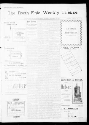 Primary view of object titled 'The North Enid Weekly Tribune. (North Enid, Okla.), Vol. 1, No. 9, Ed. 1 Thursday, December 14, 1893'.