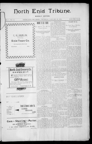 Primary view of object titled 'North Enid Tribune. Weekly Edition. (North Enid, Okla.), Vol. 1, No. 15, Ed. 1 Thursday, January 25, 1894'.