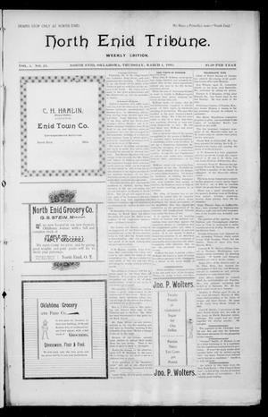 Primary view of object titled 'North Enid Tribune. Weekly Edition. (North Enid, Okla.), Vol. 1, No. 21, Ed. 1 Thursday, March 1, 1894'.