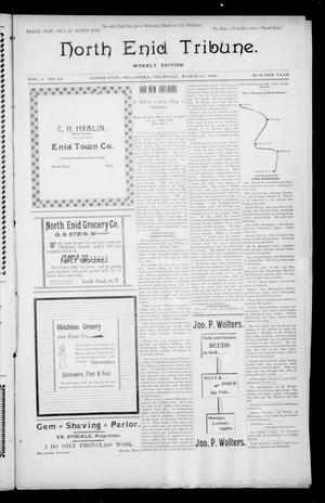 Primary view of object titled 'North Enid Tribune. Weekly Edition. (North Enid, Okla.), Vol. 1, No. 24, Ed. 1 Thursday, March 22, 1894'.