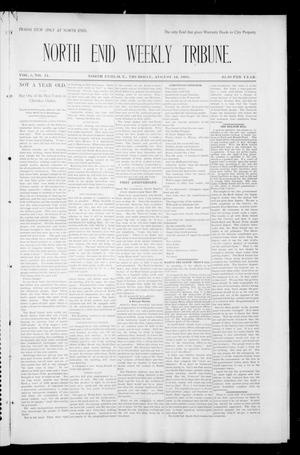 Primary view of object titled 'North Enid Weekly Tribune. (North Enid, Okla. Terr.), Vol. 1, No. 44, Ed. 1 Thursday, August 16, 1894'.