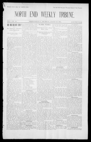 Primary view of object titled 'North Enid Weekly Tribune. (North Enid, Okla. Terr.), Vol. 1, No. 45, Ed. 1 Thursday, August 30, 1894'.
