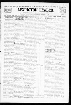 Primary view of object titled 'Lexington Leader. (Lexington, Okla.), Vol. 18, No. 40, Ed. 1 Friday, July 1, 1904'.