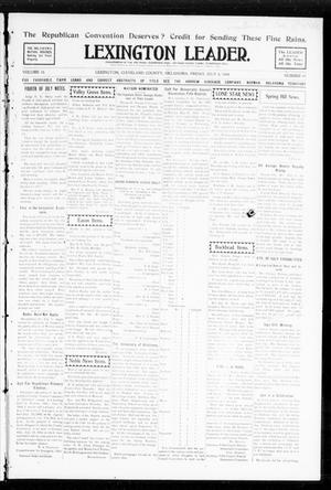 Primary view of object titled 'Lexington Leader. (Lexington, Okla.), Vol. 18, No. 41, Ed. 1 Friday, July 8, 1904'.