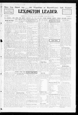 Primary view of object titled 'Lexington Leader. (Lexington, Okla.), Vol. 18, No. 43, Ed. 1 Friday, July 22, 1904'.