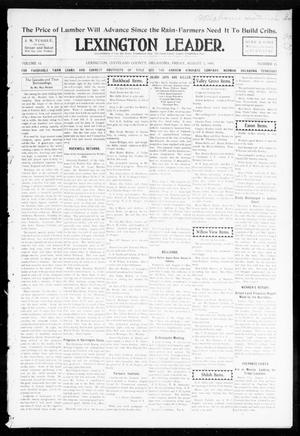 Primary view of object titled 'Lexington Leader. (Lexington, Okla.), Vol. 18, No. 45, Ed. 1 Friday, August 5, 1904'.