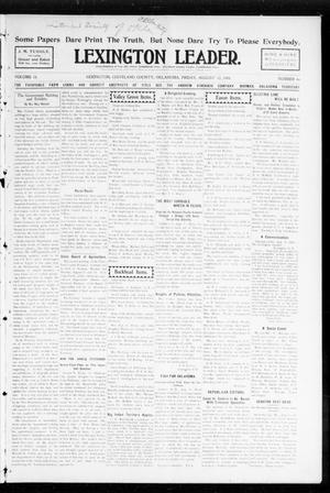 Primary view of object titled 'Lexington Leader. (Lexington, Okla.), Vol. 18, No. 46, Ed. 1 Friday, August 12, 1904'.