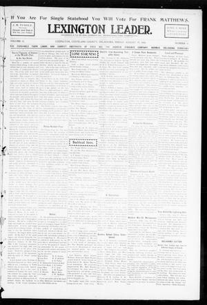 Lexington Leader. (Lexington, Okla.), Vol. 18, No. 47, Ed. 1 Friday, August 19, 1904