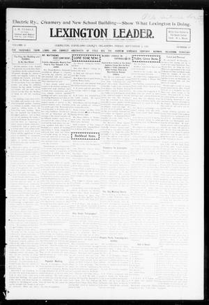 Primary view of object titled 'Lexington Leader. (Lexington, Okla.), Vol. 18, No. 49, Ed. 1 Friday, September 2, 1904'.