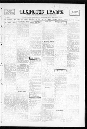 Primary view of object titled 'Lexington Leader. (Lexington, Okla.), Vol. 18, No. 51, Ed. 1 Friday, September 16, 1904'.