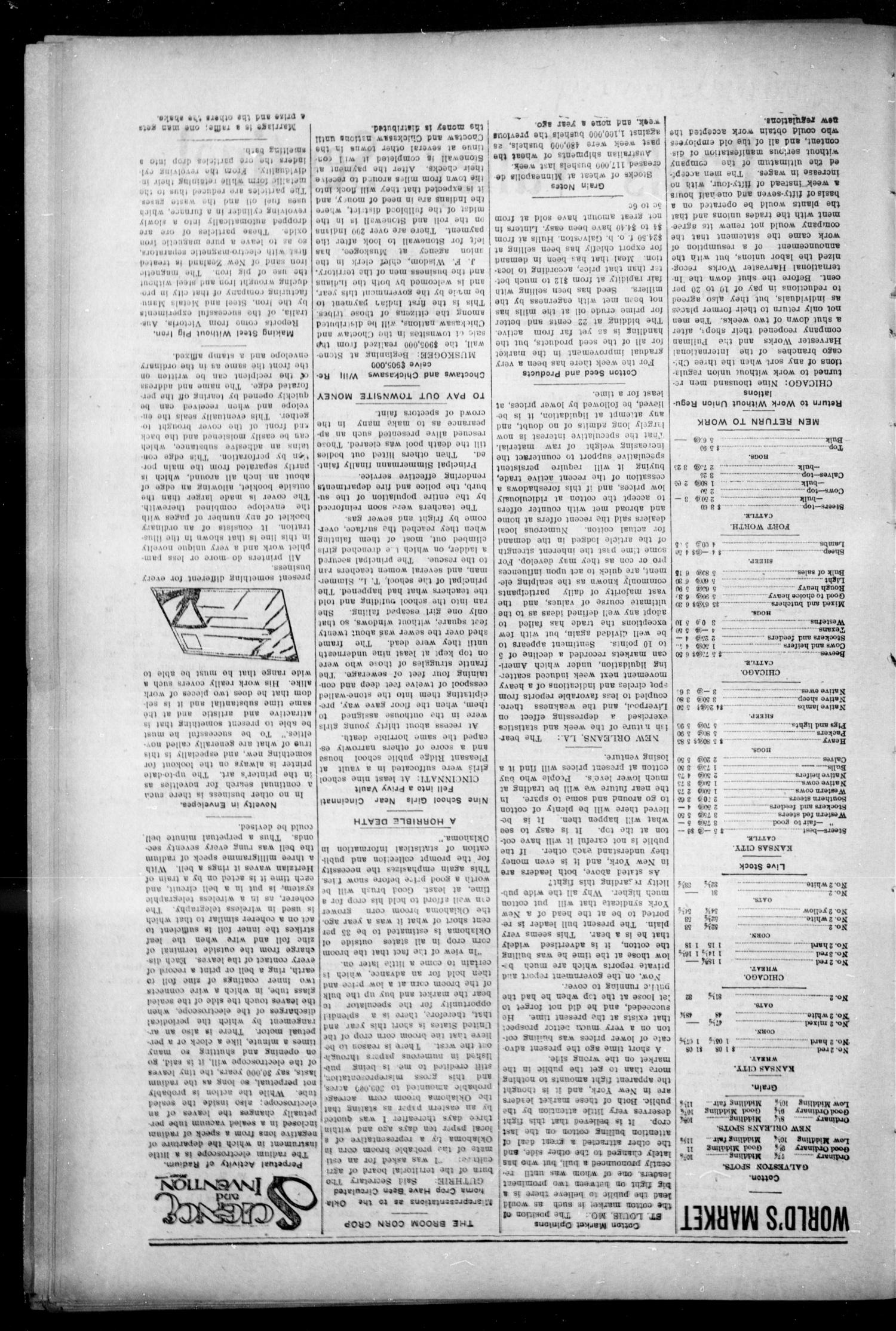 Pauls Valley Sentinel (Pauls Valley, Indian Terr.), Vol. 1, No. 28, Ed. 1 Thursday, September 29, 1904                                                                                                      [Sequence #]: 2 of 16