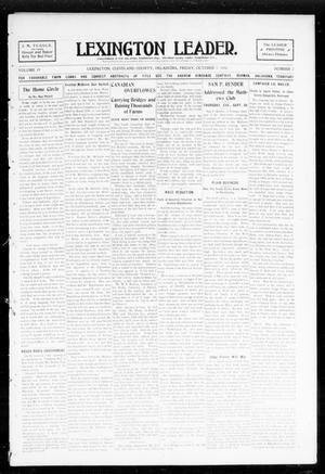 Primary view of object titled 'Lexington Leader. (Lexington, Okla.), Vol. 19, No. 2, Ed. 1 Friday, October 7, 1904'.