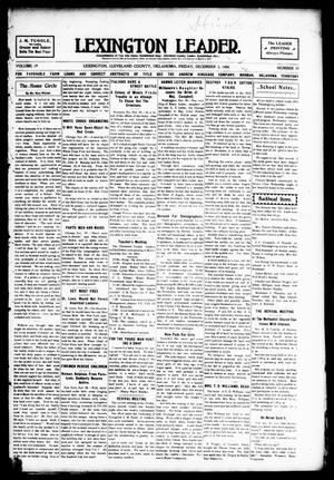 Lexington Leader. (Lexington, Okla.), Vol. 19, No. 10, Ed. 1 Friday, December 2, 1904