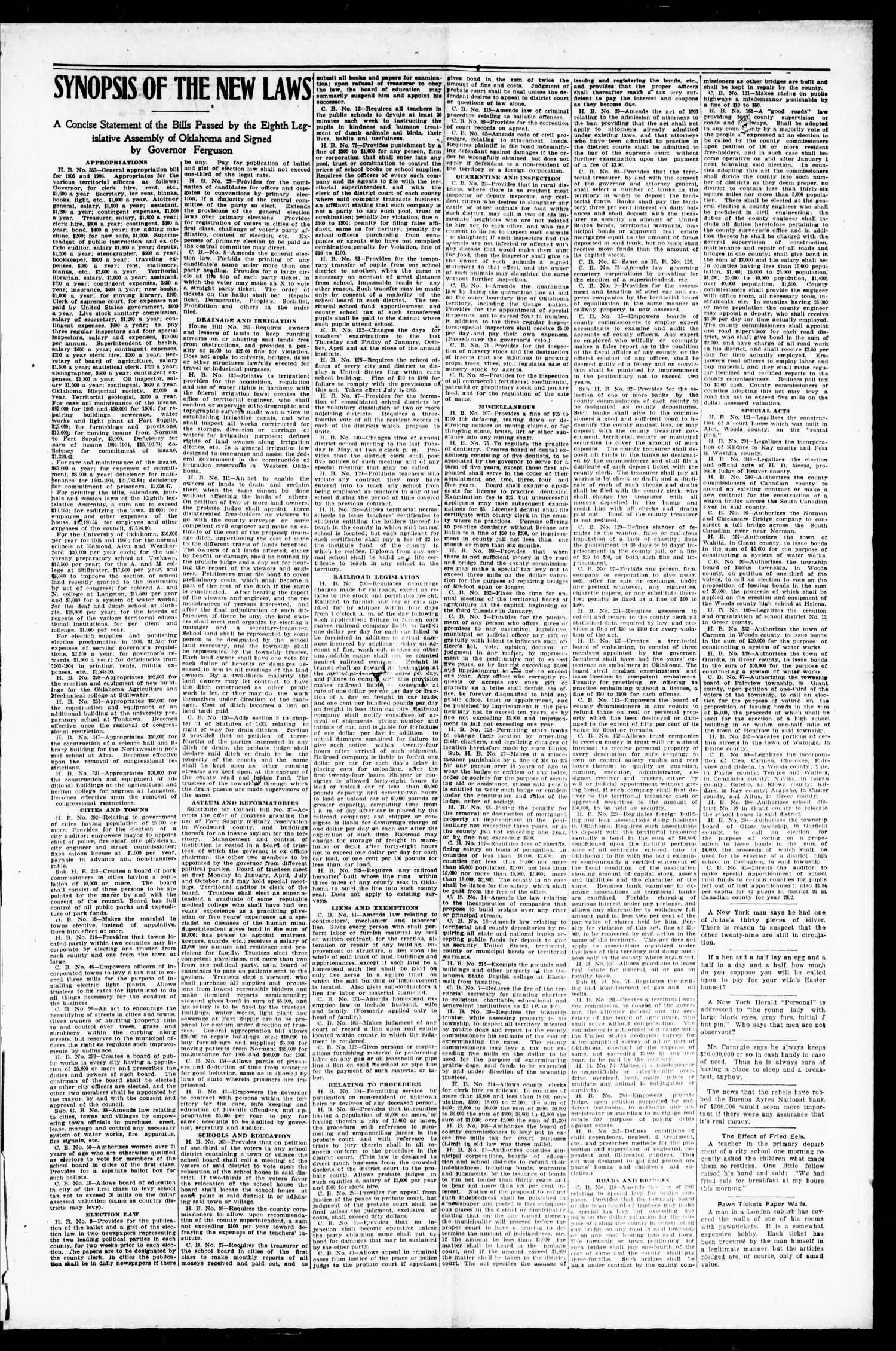 Lexington Leader. (Lexington, Okla.), Vol. 19, No. 23, Ed. 1 Friday, March 3, 1905                                                                                                      [Sequence #]: 3 of 12