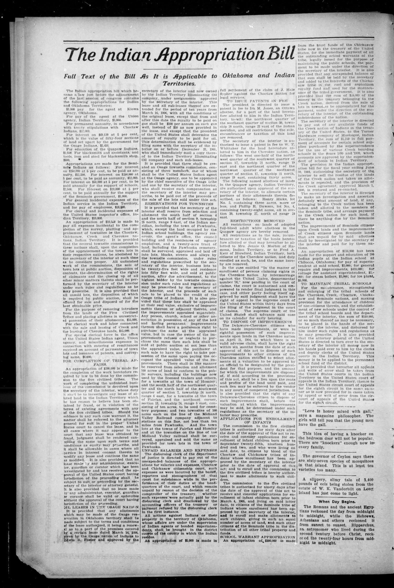 Pauls Valley Sentinel (Pauls Valley, Indian Terr.), Vol. 2, No. 1, Ed. 1 Thursday, March 23, 1905                                                                                                      [Sequence #]: 2 of 16